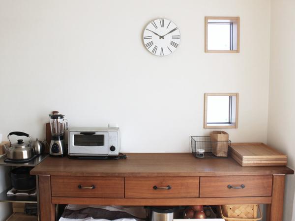 台所の作業台と、台所を使いやすくする工夫