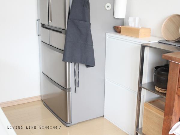 台所のシンプル&スタイリッシュなダストボックス